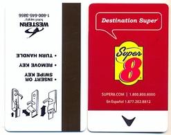 Super 8 Hotels, U.S.A., Used Magnetic Hotel Room Key Card # Super8-3c - Cartes D'hotel