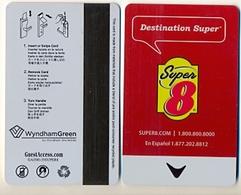 Super 8 Hotels, U.S.A., Used Magnetic Hotel Room Key Card # Super8-3a - Cartes D'hotel