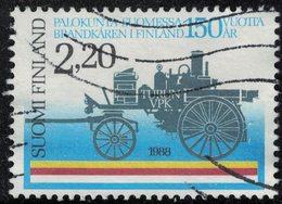 Finlande 1988 Oblitéré Used Steam Fire Engine Véhicule Des Pompiers à Vapeur SU - Finlande