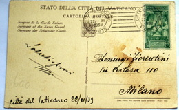 VATICAN 1939, CORONATION 25 CENT, POSTCARD - Vatican