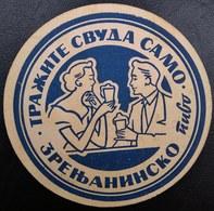 ZRENJANIN BREWERY Serbia Ex - Yugoslavia Very Rare Old Beer Coaster ZRENJANINSKO PIVO - Sous-bocks