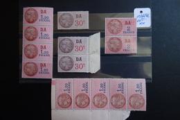 13 FISCAUX ** MNH De 1936/42 - Revenue Stamps