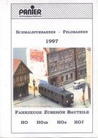 Catalogue PANIER 1997  HO HOe HOm HOf Fahrzeuge Zubehör Bauteile - Boeken En Tijdschriften