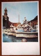 ROMA Fontana Del Moro Bernini Piazza Navona Cartolina Non Viaggiata Serie Fontane D'Italia - Places