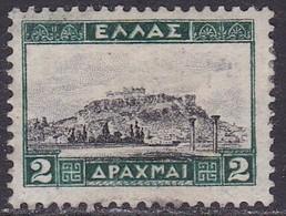 GREECE 1927 Landscapes I 2 Dr. Green / Black Vl. 428 MNG Perforation 13¼ X 13¾ - Ungebraucht