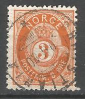 Norway 1877 Used Stamp - Usati
