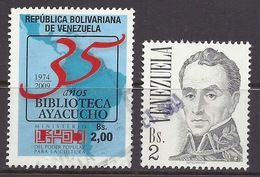 Venezuela - President Simon Bolivar Bs.2, South America Map, Library Ayacucho - Used - Venezuela