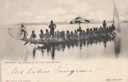 Cartolina - Postcard /   Viaggiata - Sent /  Kamerun, Piroga. - Kamerun