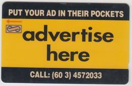 MALAYSIA (Uniphonekad)- Advertise Here , CN:7USBA, 1993, Used - Malaysia