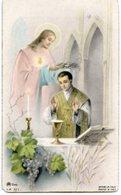 Abbasanta (Oristano) - Santino Antico RICORDO SACERDOTE DON AELE SANNA 5-6 7 1953 - OTTIMO P42- - Religione & Esoterismo