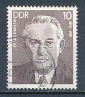 DDR Mi. 2765 Gest. Arbeiterbewegung Franz Dahlem - Gebruikt