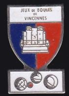 65327-Pin's.. Pétanque.Jeux De Boules De Vincennes. - Pétanque