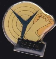65332-Pin's.Gymnastique .FF Gym Argent. - Ginnastica