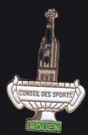 65338-Pin's.Conseil Des Sports.basilique Du Sacré-Cœur à Rouen - Villes