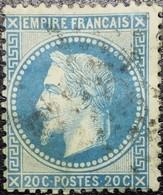 N°29Aa. Oblitéré étoile De Paris N°37 - 1863-1870 Napoleon III With Laurels