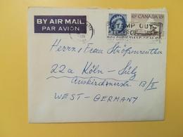 1961 BUSTA INTESTATA AIR MAIL CANADA  BOLLO REGINA ELISABETTA QUEEN ELIZABETH ANNULLO OBLITERE' CALGARY - Lettres & Documents