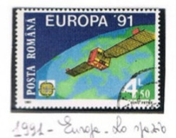 ROMANIA   - SG 5334   -  1991 EUROPA: EUTELSAT 1  - USED ° -    RIF. CP - Used Stamps