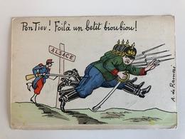 Ak Cp Pontiev Foila Un Betit Bioubiou Alsace Spot Satire A. De Rameri - Guerre 1914-18