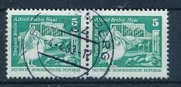 DDR Mi. 2483 Waagerechtes Paar Gest. Pelikan Tierpark Berlin - Gebruikt