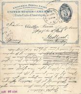 Postal Card  Philadelphia - New York - Stuttgart           1893 - Ganzsachen