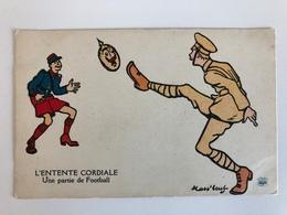 Ak Cp L'entente Cordiale Une Partie De Football Mass Beuf - Guerre 1914-18