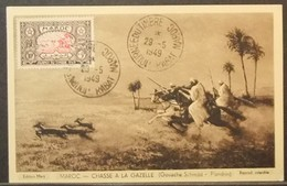 Morocco - Maximum Card 1949 Stamp Day Hunting - Morocco (1956-...)