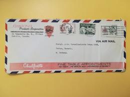1965 BUSTA INTESTATA AIR MAIL CANADA  BOLLO COATS OF ARMS STEMMA PROVINCE ANNULLO OBLITERE' WINDSOR - Lettres & Documents
