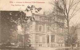 Spa : Avenue Du Marteau. Villa Clémentine 1905 - Spa