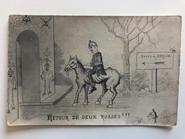 Ak Cp Retour De Deux Rosses Kaiser Wilhelm II Route De Berlin - Guerre 1914-18