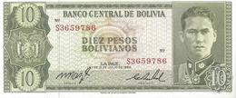 BOLIVIE - 10 Pesos Bolivianos 1962 - UNC - Bolivië