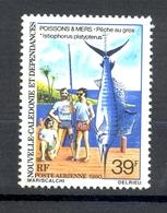 Timbre Neuf - NOUVELLE CALEDONIE - Poste Aérienne - Poissons Et Mers - Pêche Au Gros - Y&T PA 203 - Sans Charnière - Ungebraucht