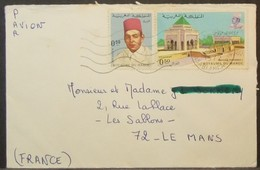 Morocco - Cover To France 1972 Mosque - Morocco (1956-...)