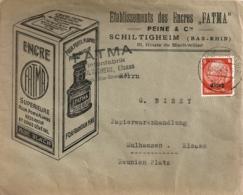 FRANCE / ENVELOPPE PUBLICITAIRE DE LA FABRIQUE D'ENCRE FATMA  DE SCHILTIGHEIM 1940 - Fabriken Und Industrien