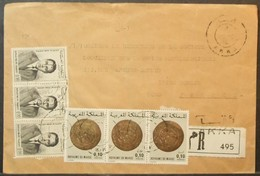Morocco - Registered Cover To France 1982 Coins - Morocco (1956-...)