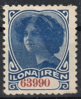 GIRL Lotteery Lucky Tax Revenue 1920's HUNGARY - HECHT BANK - CINDERELLA LABEL VIGNETTE - Used Ilona Irén - Fiscaux