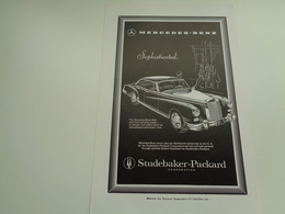 """Origineel Knipsel ( 2489 ) Uit Tijdschrift """" Geographic Magazine """" 1958  : Auto  Voiture  MERCEDES - BENZ - Andere"""