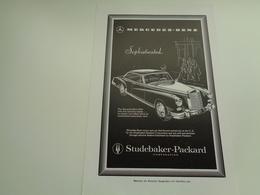 "Origineel Knipsel ( 2489 ) Uit Tijdschrift "" Geographic Magazine "" 1958  : Auto  Voiture  MERCEDES - BENZ - Advertising"