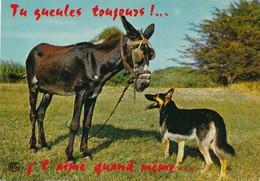 CPM Ane Et Chien Berger Allemand Humour Tu Gueules Toujours ... Je T'aime Quand Même ... - Caballos