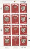 Colombia Nº 1081 Al 1083 En Hoja De 4 Series - Colombia