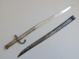 Sabre-baïonnette Français Modèle 1866 Au Numéro. - Armas Blancas