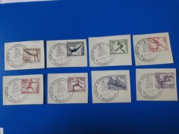 Olympic Games 1936 Berlin Complete Set Of Stamps With First Day Postmarks!! - Summer 1936: Berlin
