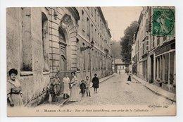 - CPA MEAUX (77) - Rue Et Pont Saint-Remy 1911, Vue Prise De La Cathédrale (belle Animation) - Edition B. F. N° 53 - - Meaux