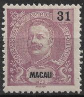 Macau Macao – 1898 King Carlos 31 Avos - Macau