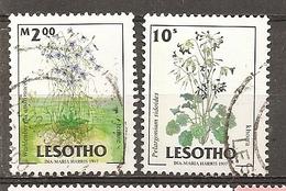 Lesotho 1997 Fleurs Flowers Obl - Lesotho (1966-...)