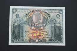 7Spain - 50 Pesetas - 1907 -  Very Rare - Excellent Condition - 50 Pesetas