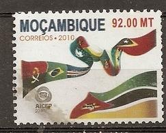 Mozambique 2010 Aicep Drapeau Flag Obl - Mozambique