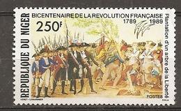 Niger 1989 French Revolution Obl - Niger (1960-...)
