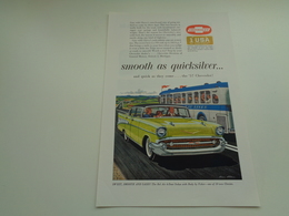 "Origineel Knipsel ( 2525 ) Uit Tijdschrift "" Geographic Magazine "" 1957  : Auto  Voiture  CHEVROLET - Advertising"