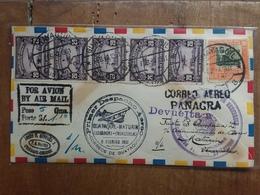 VENEZUELA - Posta Aerea - Panagra - I° Dispaccio Aereo Ecuador-Venezuela + Spese Postali - Venezuela