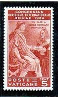 1935 Vaticano Vatican GIURIDICO JURIDICAL CONGRESS 5c MNH** - Vatican
